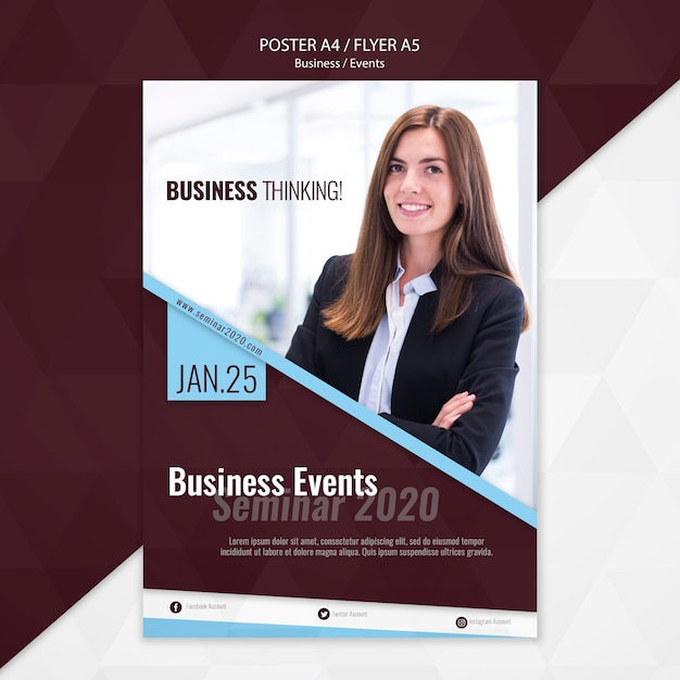 Business events flyer template Free Psd