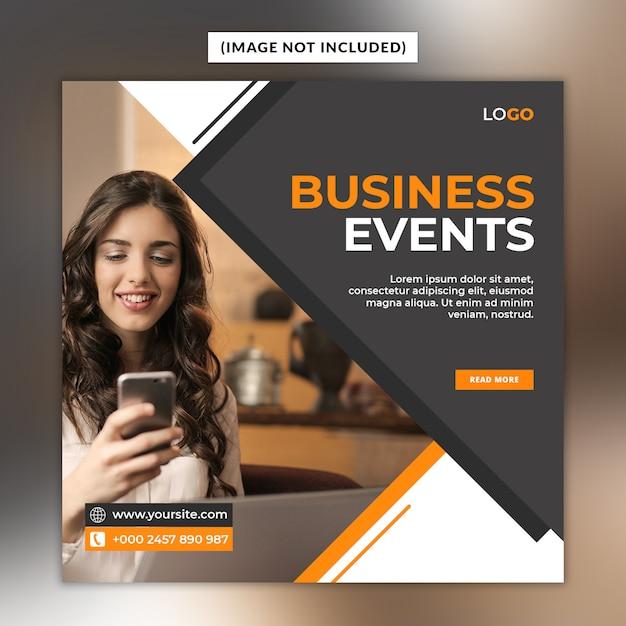엽서 템플릿-비즈니스 이벤트 소셜 미디어 프리미엄 PSD 파일
