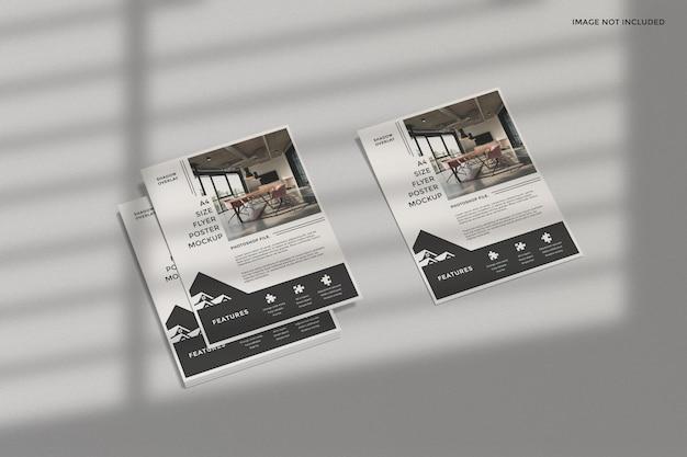 그림자 오버레이가있는 비즈니스 전단지 모형 프리미엄 PSD 파일