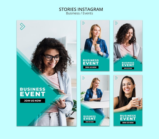 Business instagram stories template Free Psd