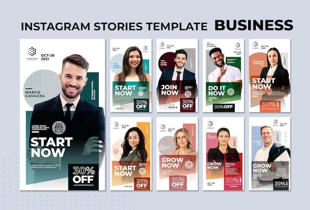 비즈니스 instagram 이야기 템플릿 무료 PSD 파일