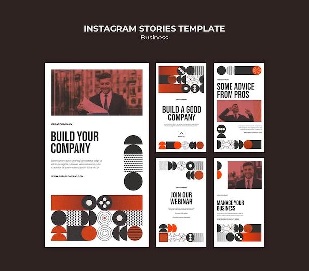 비즈니스 instagram 이야기 무료 PSD 파일