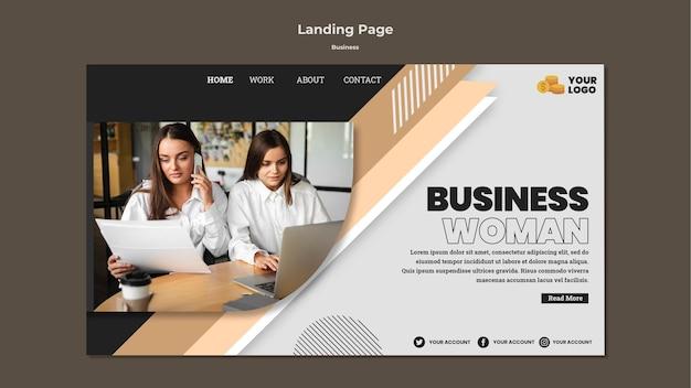 写真付きのビジネスランディングページテンプレート 無料 Psd