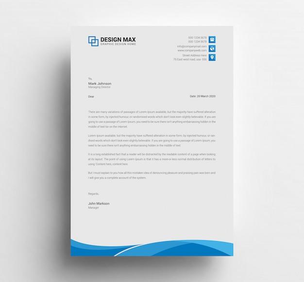 Business letterhead design Premium Psd