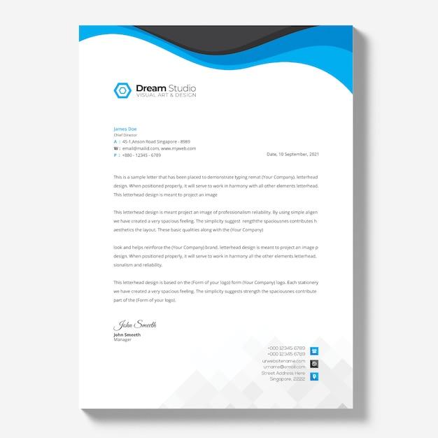 편지지 템플릿-사업 무료 PSD 파일