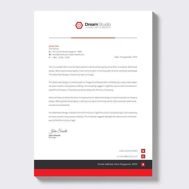 Business letterhead template Free Psd