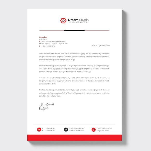비즈니스 레터 템플릿 무료 PSD 파일