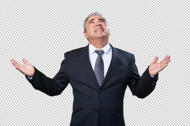 Business man praying Premium Psd