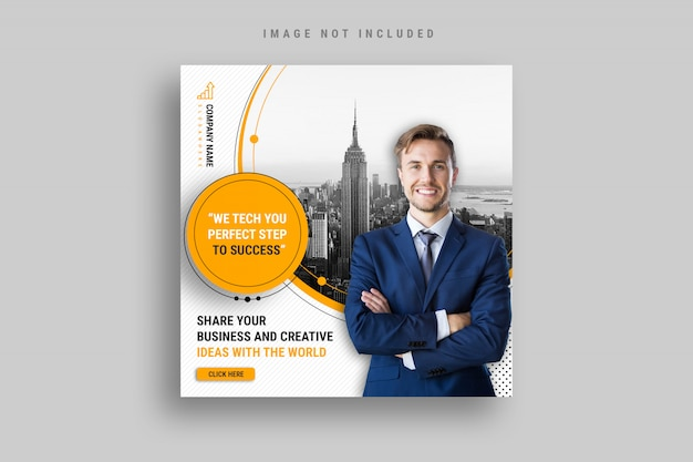 Business and marketing agency social media banner Premium Psd