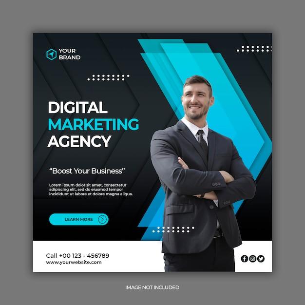 Шаблон поста в социальных сетях для бизнес-маркетинга Premium Psd