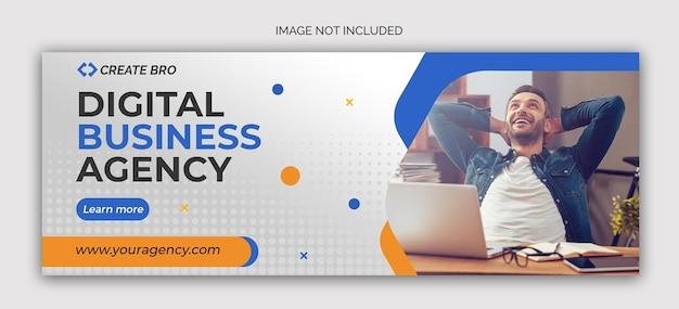 Mẫu Psd banner tiếp thị kinh doanh phương tiện truyền thông xã hội đăng