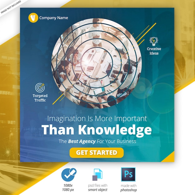 Business marketing social media web banner Premium Psd