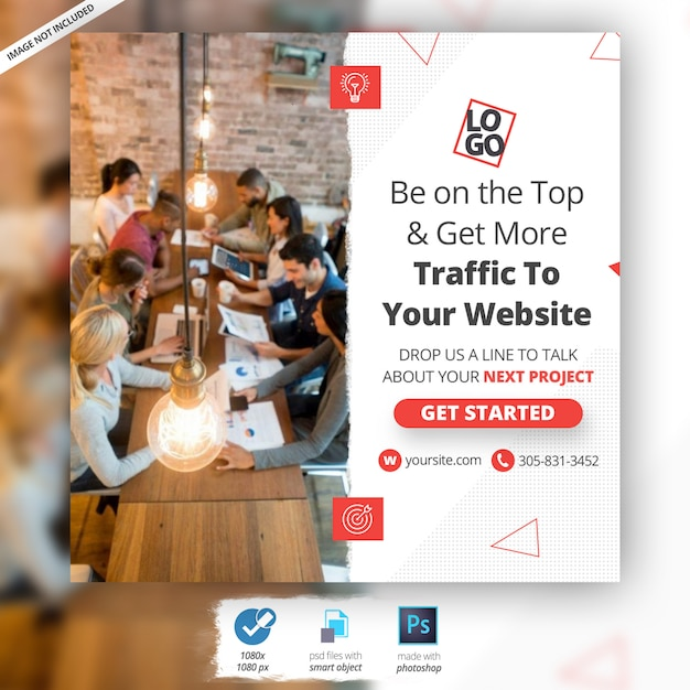 Business marketing web banner ad Premium Psd