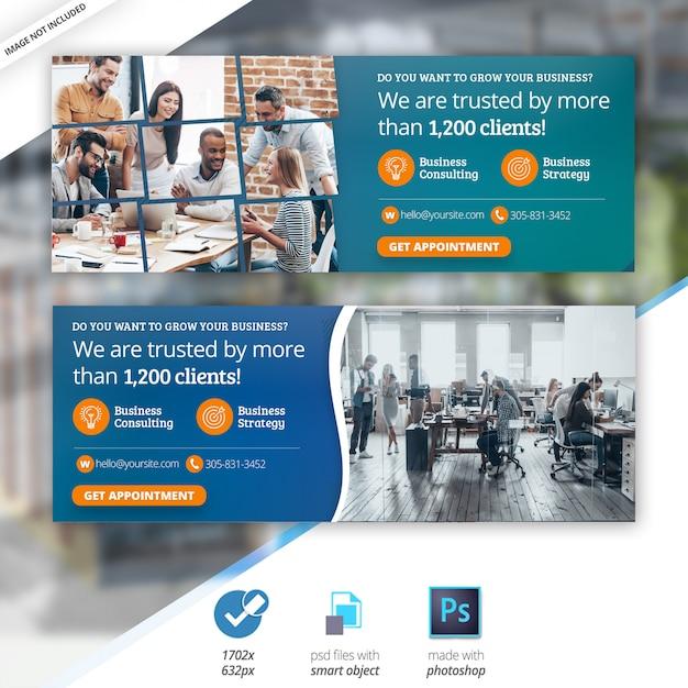 Business marketing web social media facebook cover banner Premium Psd