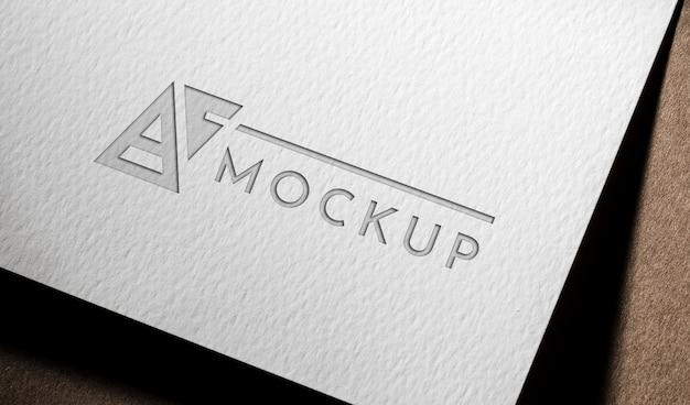 Carta mock-up aziendale su carta grossa Psd Gratuite