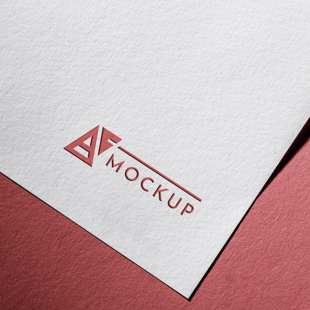 Business mock-up card on textured paper Free Psd