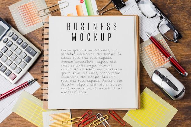 Business mock-up with desk arrangement Free Psd