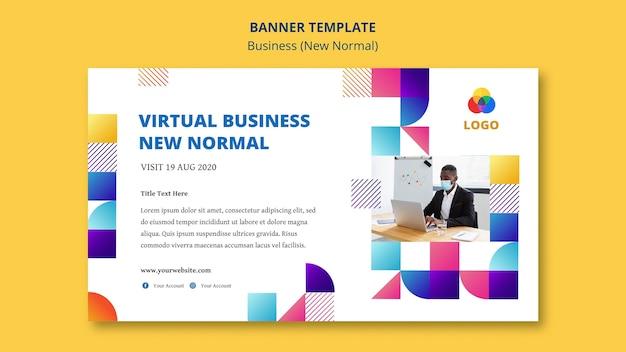ビジネスの新しい通常のバナーテンプレート 無料 Psd