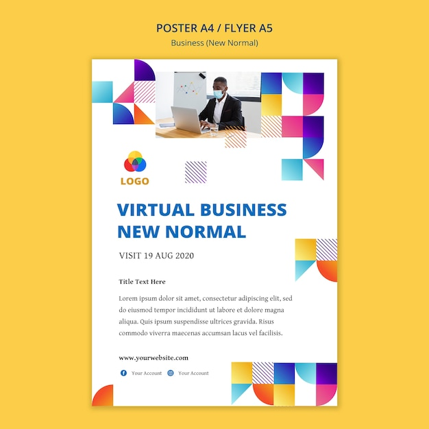 Business new normal poster design Free Psd