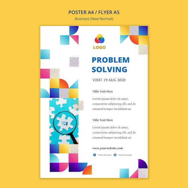 Business nuovo modello di poster normale design Psd Gratuite
