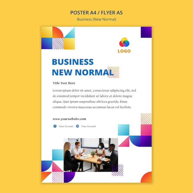 Business new normal poster template Free Psd