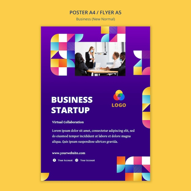 Business new normal poster theme Free Psd