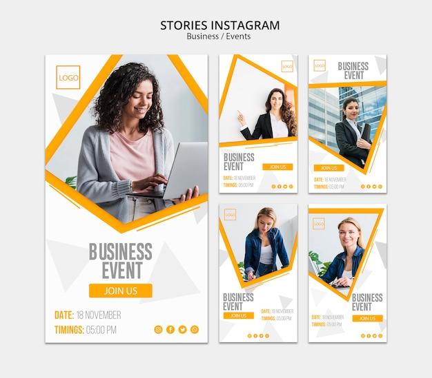 Бизнес онлайн дизайн для историй instagram Premium Psd