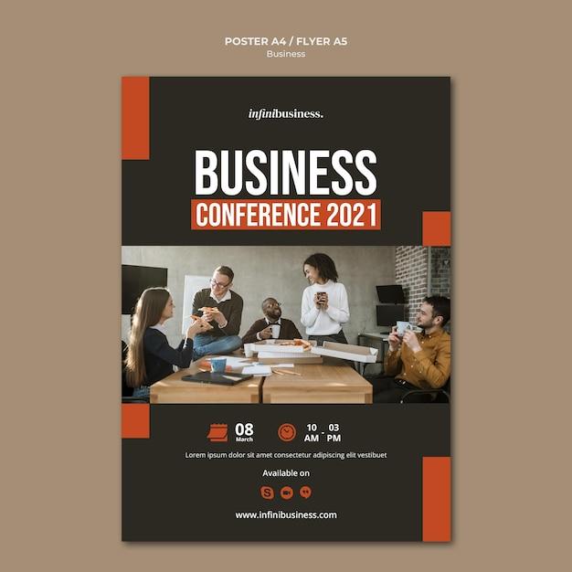 Шаблон бизнес-плаката Бесплатные Psd