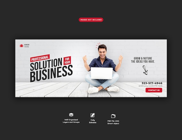 Шаблон обложки для бизнеса и корпоративного facebook Бесплатные Psd
