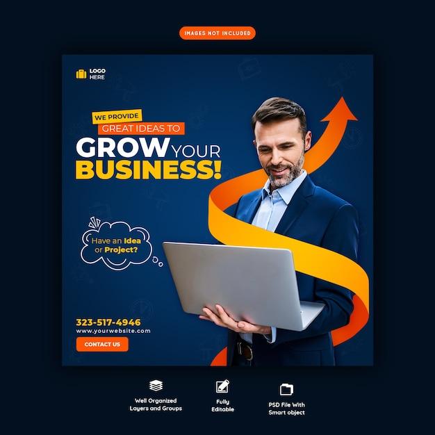 Шаблон бизнес-продвижения и корпоративного баннера в социальных сетях Premium Psd