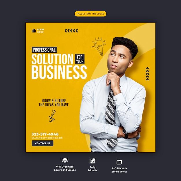 Шаблон бизнес-продвижения и корпоративного баннера в социальных сетях Бесплатные Psd