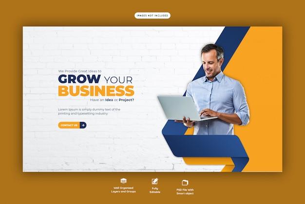 Продвижение бизнеса и корпоративный веб-баннер Premium Psd