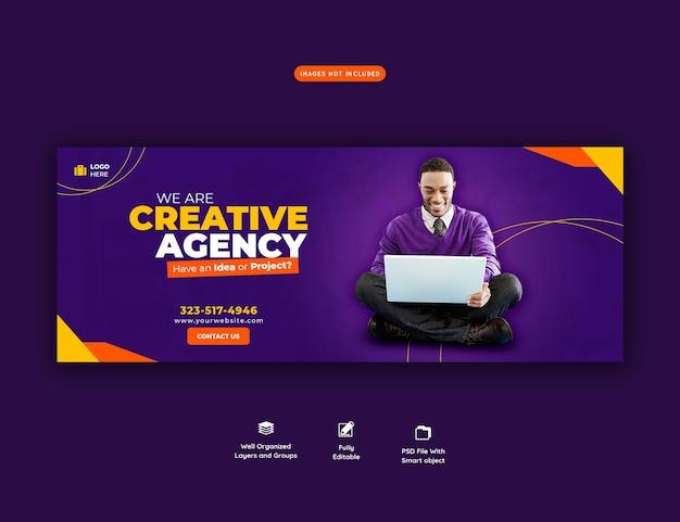 Продвижение бизнеса и креативный шаблон обложки facebook Бесплатные Psd