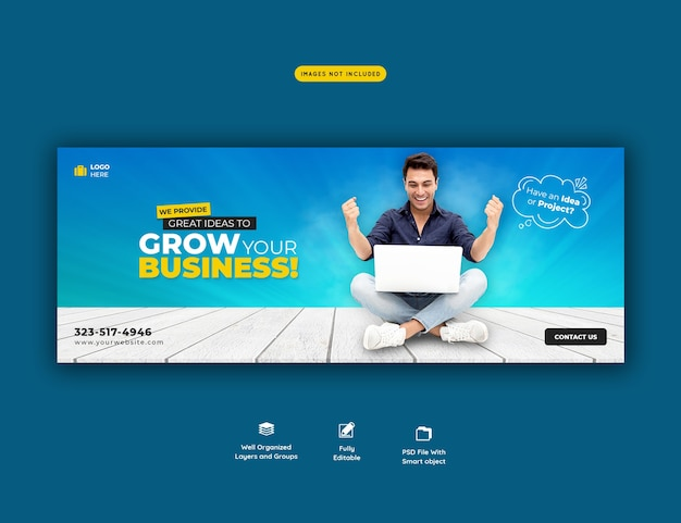 Business promotion and corporate facebook cover template Free Psd