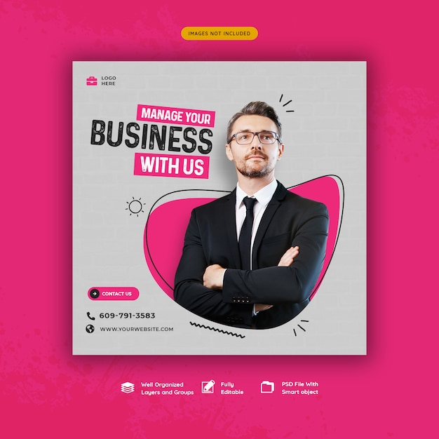 Business promotion and corporate social media banner template Premium Psd