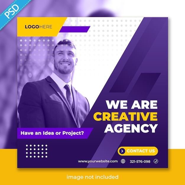 Business promotion and corporate for social media instagram post banner template Premium Psd