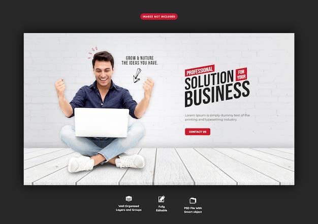 Promozione aziendale e modello di banner web aziendale Psd Gratuite