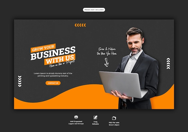 Business promotion and corporate web banner template Free Psd