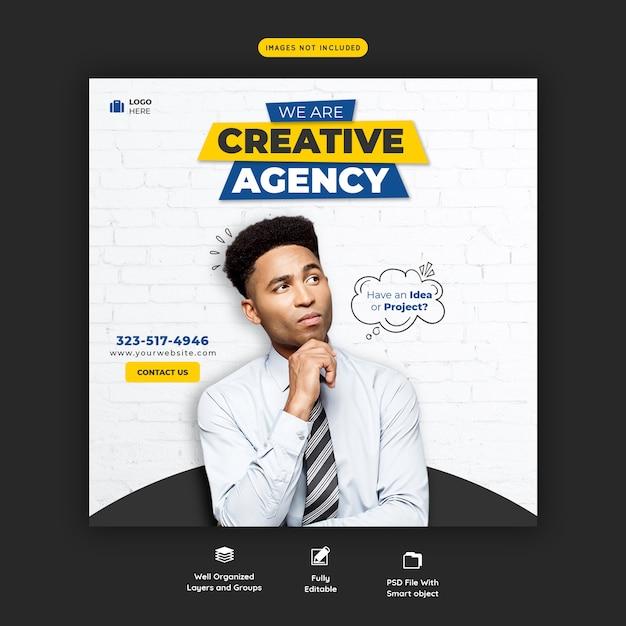 Promozione aziendale e modello di banner di social media creativo Psd Gratuite