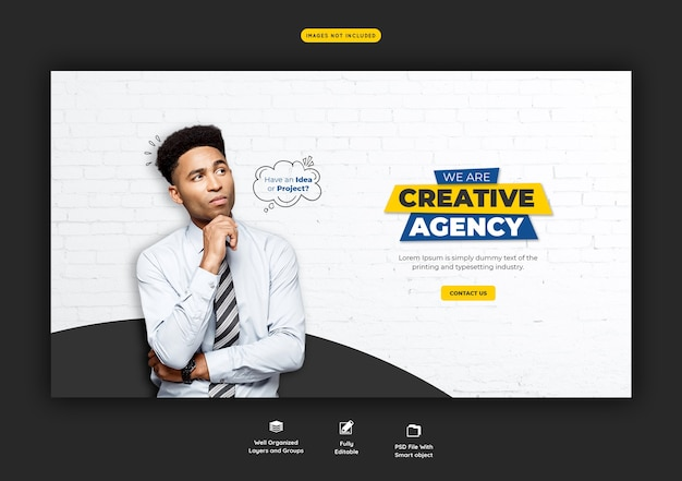 Promozione aziendale e modello di banner web creativo Psd Gratuite