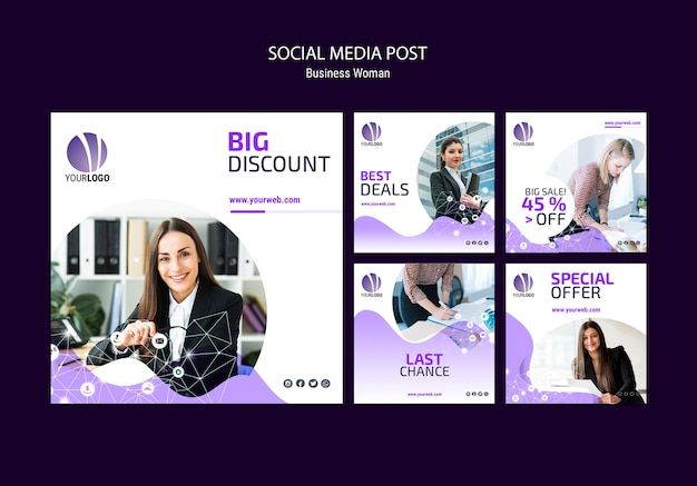 Business social media post template Free Psd