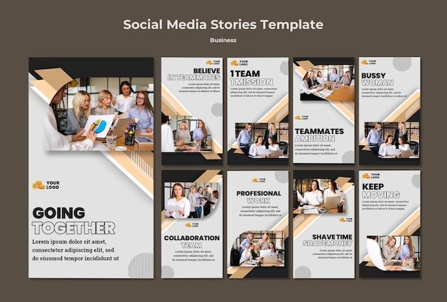 Business social media stories Premium Psd