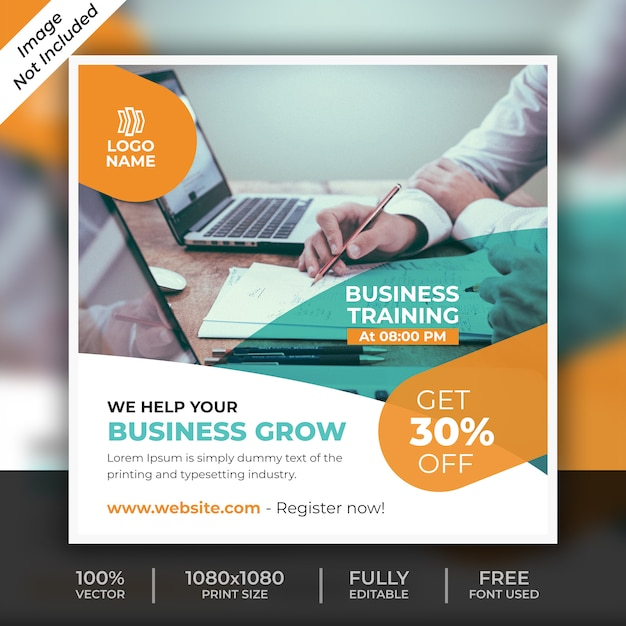 Business social post template Premium Psd