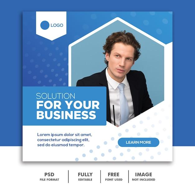 Шаблон бизнес квадратный баннер Premium Psd