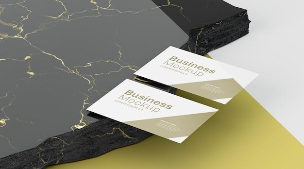 비즈니스 문구 모형 복사 공간 카드 무료 PSD 파일