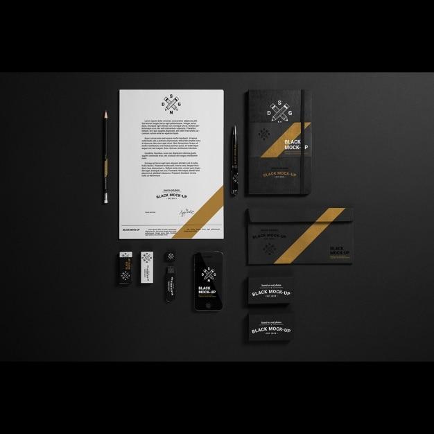 Business Stationery Mock Up Design PSD File