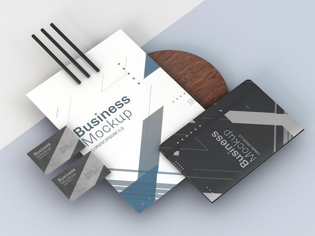 비즈니스 문구 모형 높은보기 프리미엄 PSD 파일