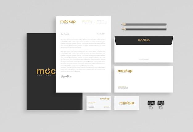 비즈니스 문구 모형 디자인 프리미엄 PSD 파일