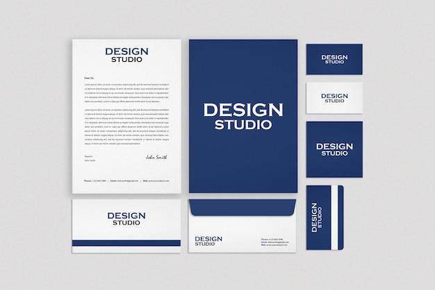 Business stationery set mockup design Premium Psd