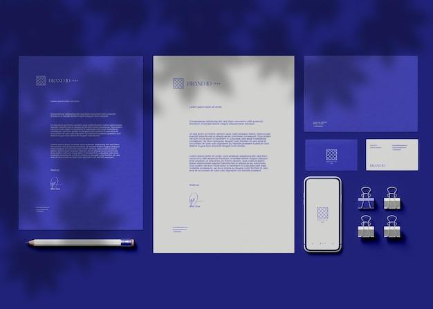 Business stationery set mockup Premium Psd